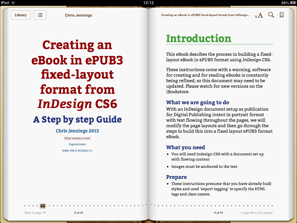 PagetoScreen EBook Creating An In EPUB3 Fixed