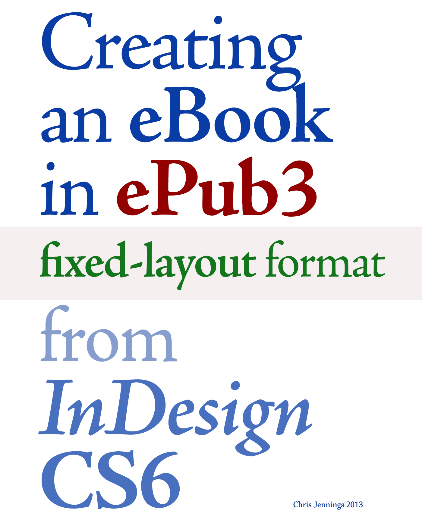 EPUB 3 INDESIGN CC EPUB