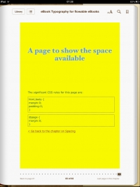 Image for eBooks on iPad - Space available for the content