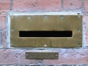 Image for Brass Letterbox in Brick