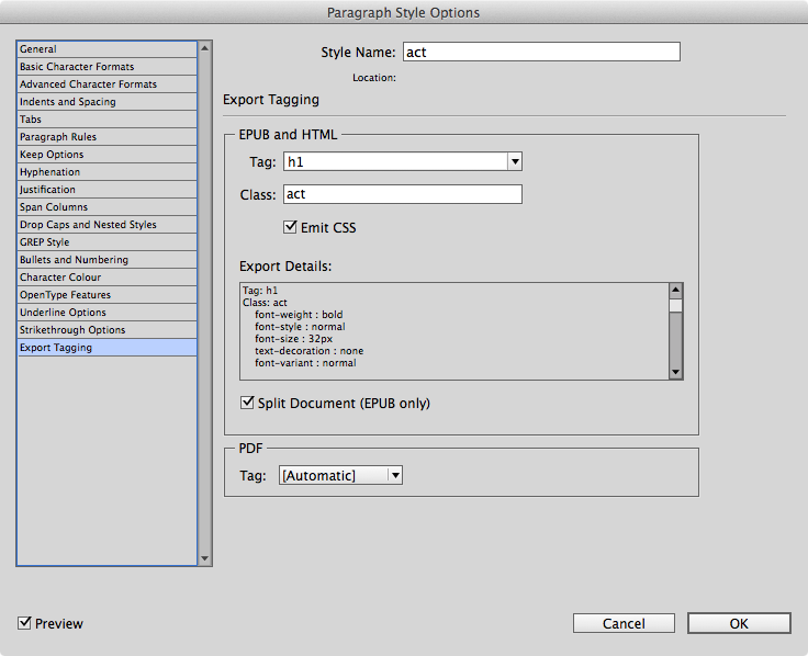 PagetoScreen - InDesign CC for print and ePub from the Same